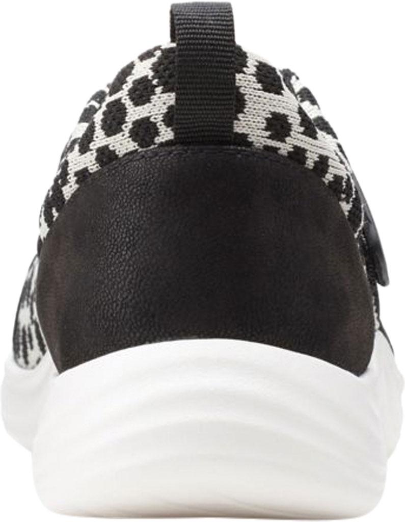 Women's Clarks Lulu Go Sneaker, Black/White Interest Textile, large, image 4