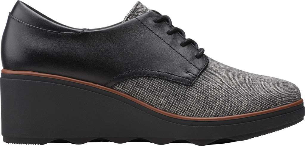 Women's Clarks Mazy Hyannis Wedge Oxford, Tweed Textile, large, image 2