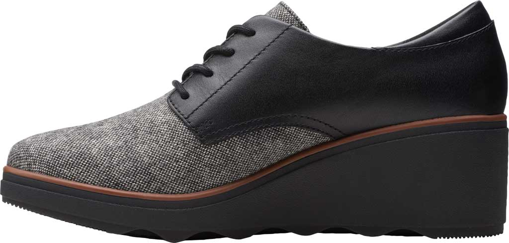 Women's Clarks Mazy Hyannis Wedge Oxford, Tweed Textile, large, image 3