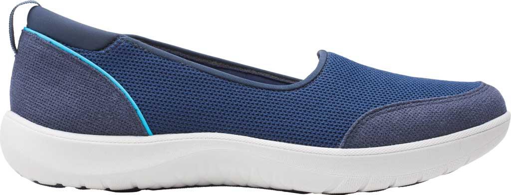 Women's Clarks Adella Blush Slip On Sneaker, Navy Textile, large, image 2