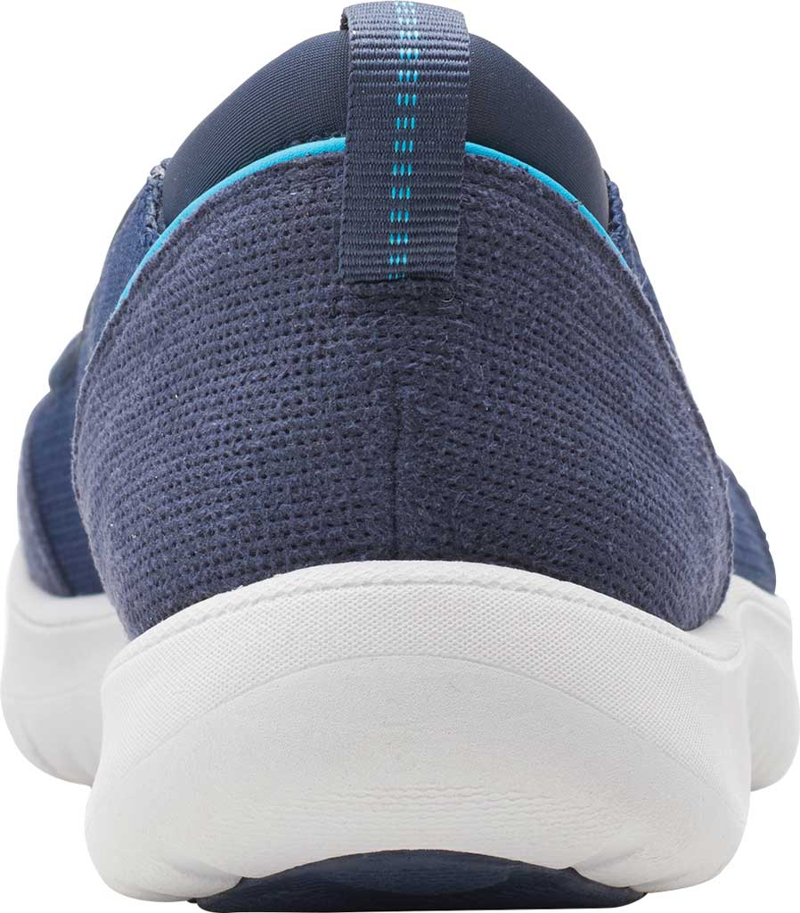 Women's Clarks Adella Blush Slip On Sneaker, Navy Textile, large, image 4