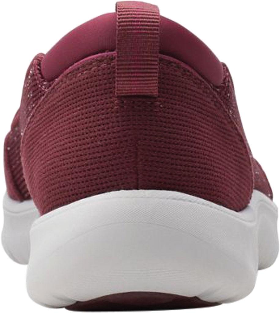 Women's Clarks Adella Blush Slip On Sneaker, Burgundy Sparkle Textile, large, image 4
