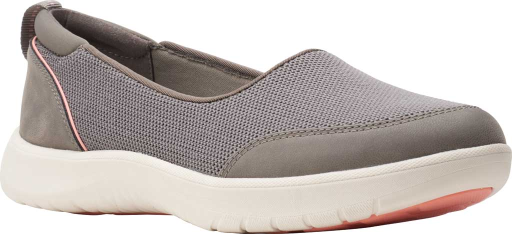 Women's Clarks Adella Blush Slip On Sneaker, Stone Sparkle Textile, large, image 1