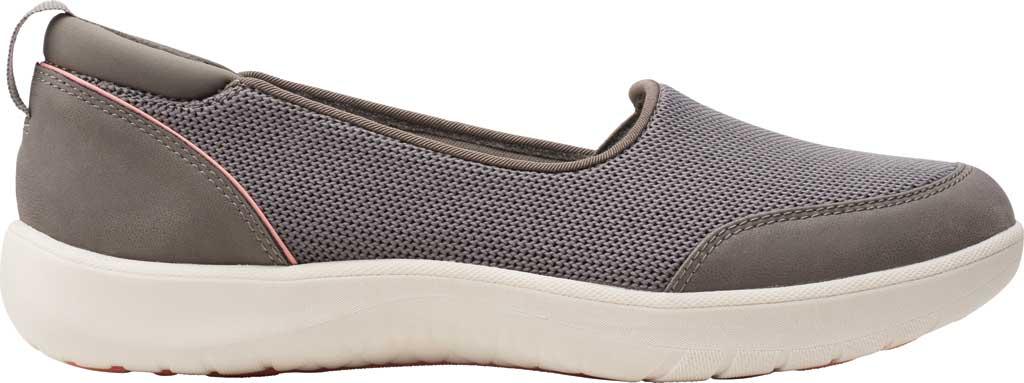 Women's Clarks Adella Blush Slip On Sneaker, Stone Sparkle Textile, large, image 2