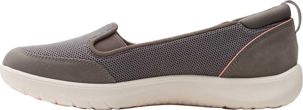 Women's Clarks Adella Blush Slip On Sneaker, Stone Sparkle Textile, large, image 3