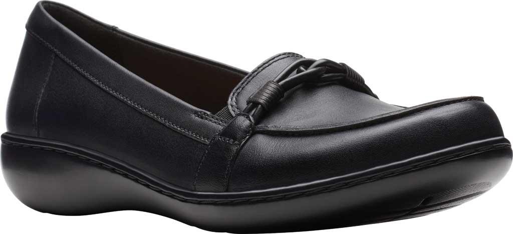 Women's Clarks Ashland Ballot Loafer, Black Leather, large, image 1