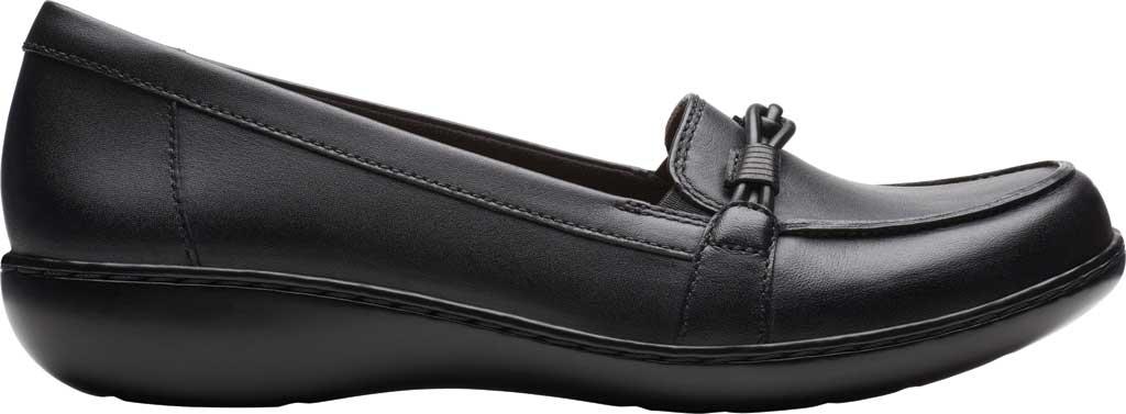 Women's Clarks Ashland Ballot Loafer, Black Leather, large, image 2