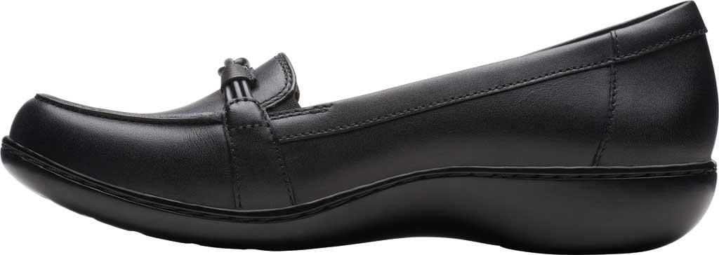 Women's Clarks Ashland Ballot Loafer, Black Leather, large, image 3