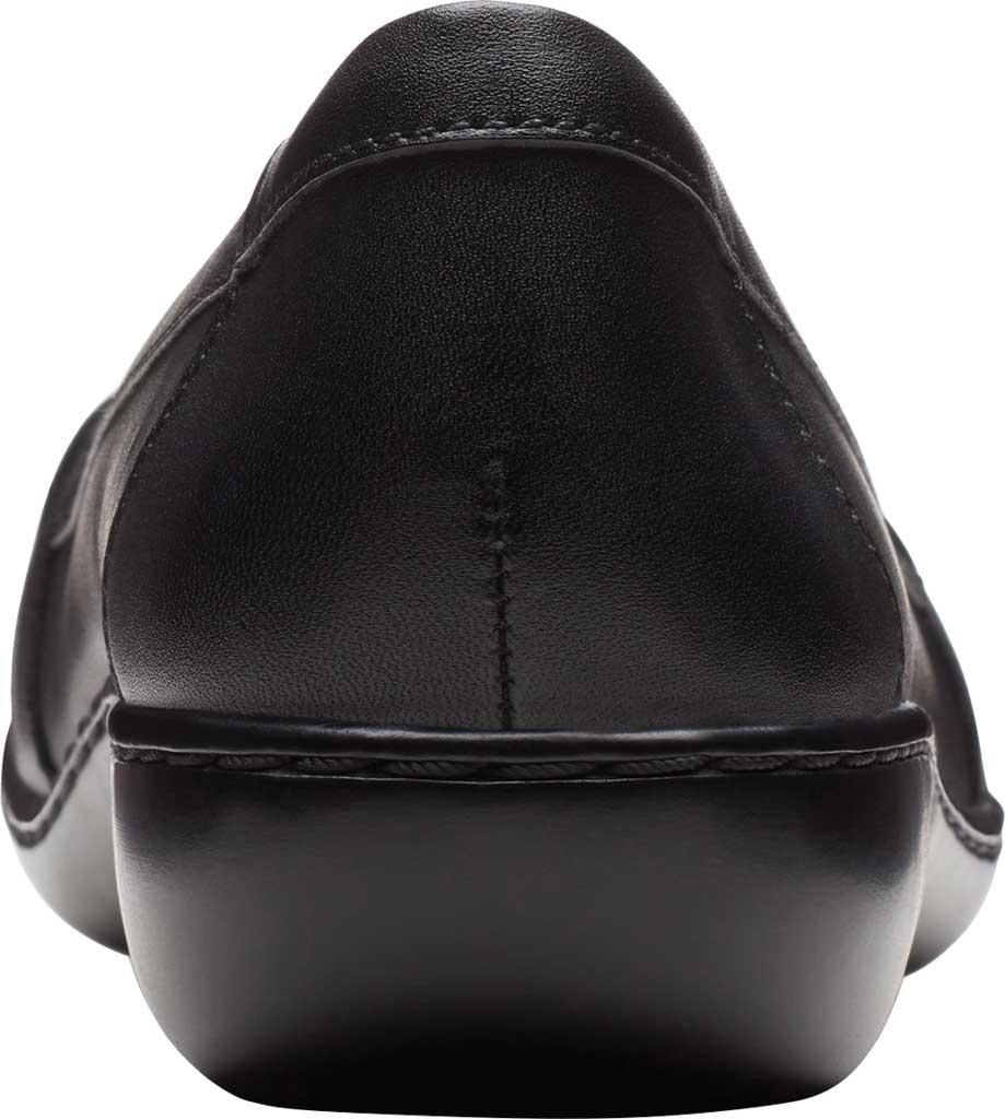 Women's Clarks Ashland Ballot Loafer, Black Leather, large, image 4