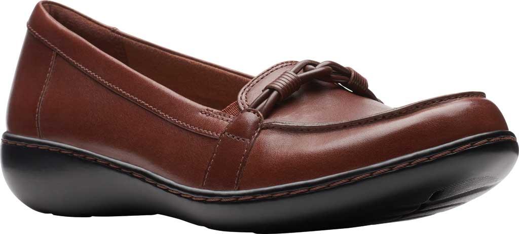 Women's Clarks Ashland Ballot Loafer, Mahogany Leather, large, image 1