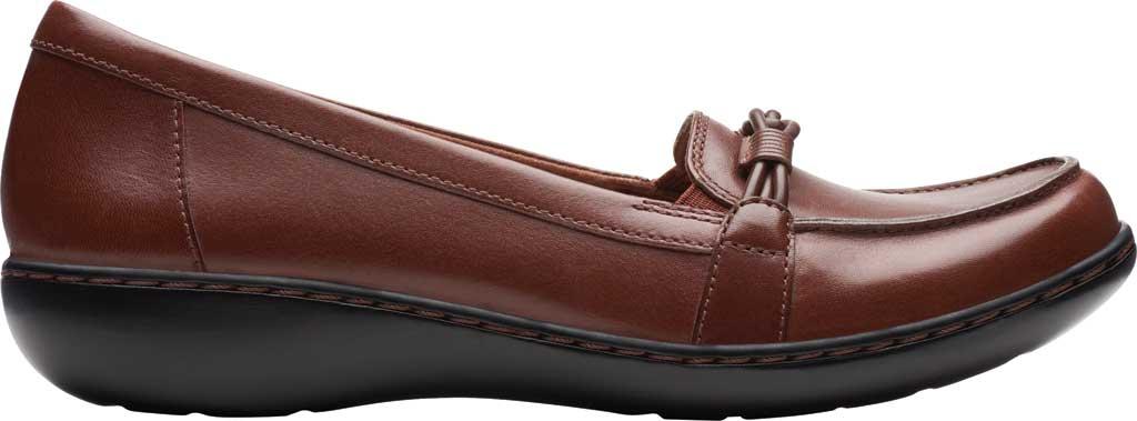 Women's Clarks Ashland Ballot Loafer, Mahogany Leather, large, image 2