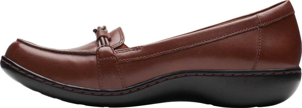 Women's Clarks Ashland Ballot Loafer, Mahogany Leather, large, image 3