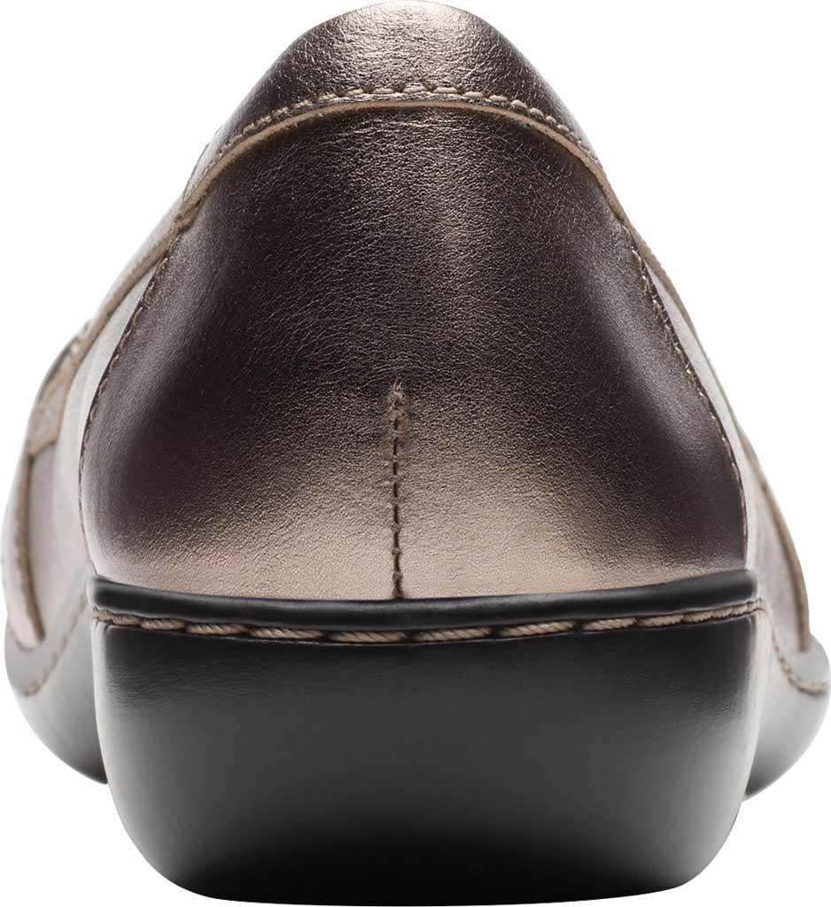 Women's Clarks Ashland Ballot Loafer, Pewter Metallic Leather, large, image 4