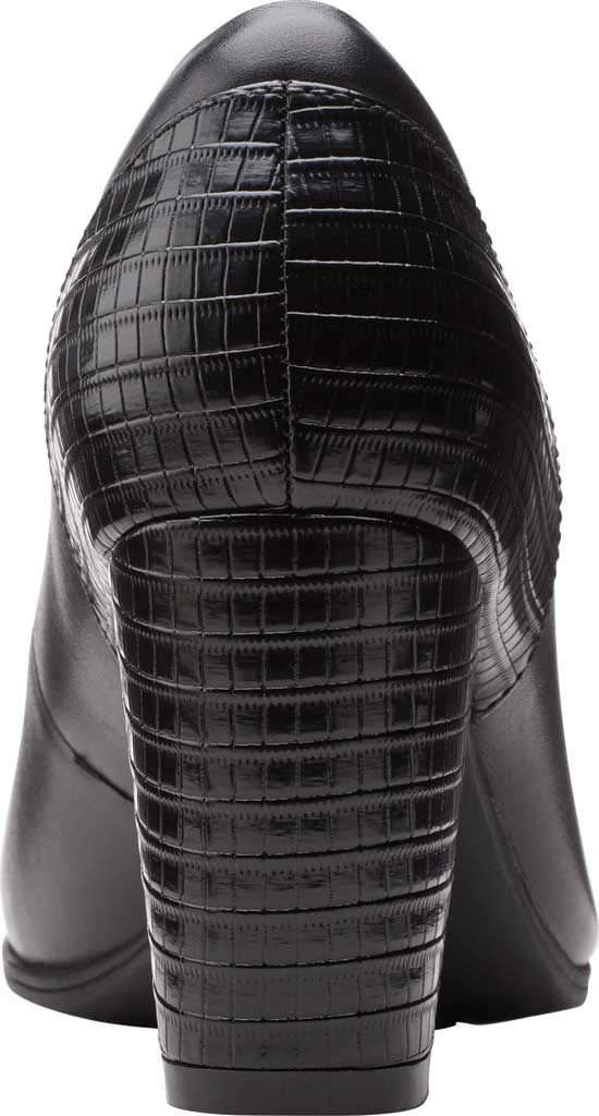 Women's Clarks Alayna Ray Pump, Black Leather/Synthetic, large, image 4