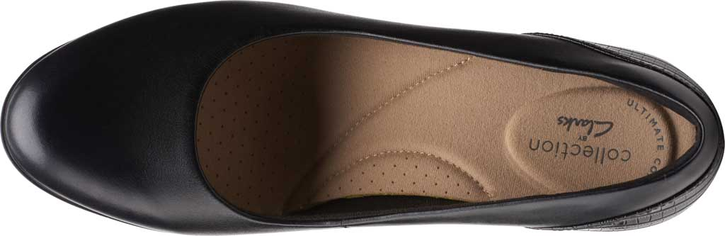 Women's Clarks Alayna Ray Pump, Black Leather/Synthetic, large, image 5