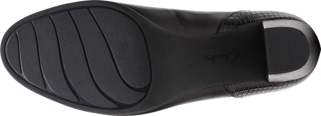 Women's Clarks Alayna Ray Pump, Black Leather/Synthetic, large, image 6