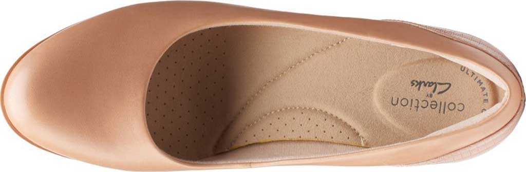 Women's Clarks Alayna Ray Pump, Praline Leather/Combi Synthetic, large, image 5
