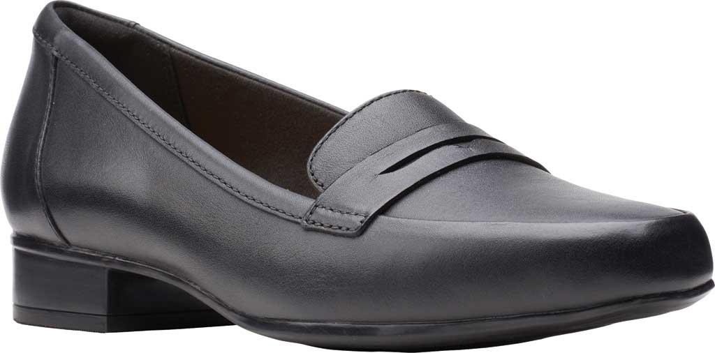 Women's Clarks Juliet Coast Penny Loafer, Black Leather, large, image 1