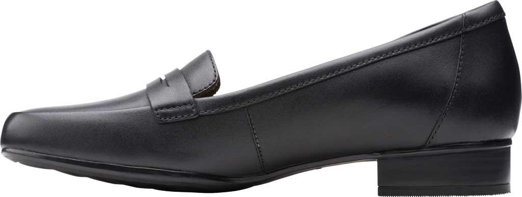 Women's Clarks Juliet Coast Penny Loafer, Black Leather, large, image 3