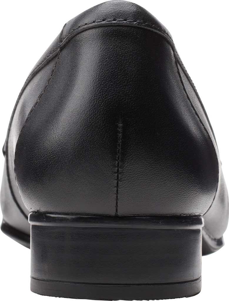 Women's Clarks Juliet Coast Penny Loafer, Black Leather, large, image 4