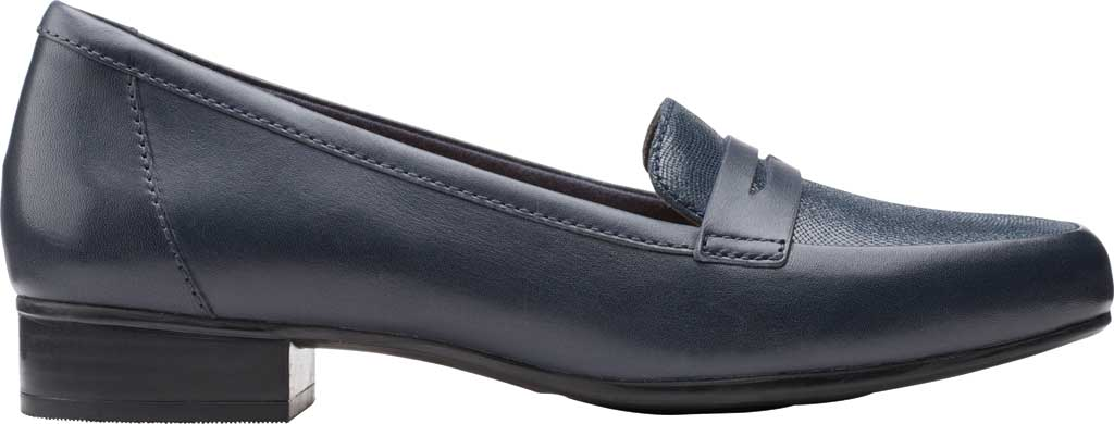 Women's Clarks Juliet Coast Penny Loafer, Navy Leather/Suede, large, image 2
