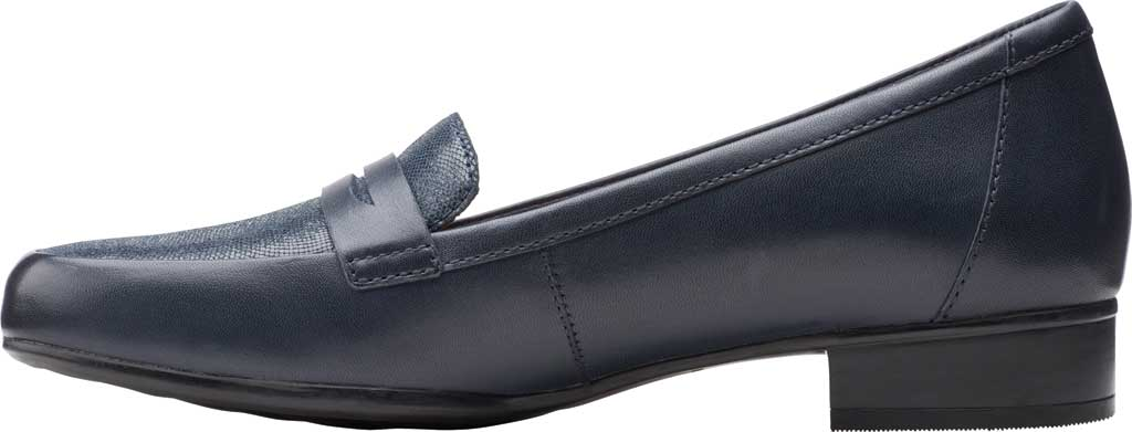 Women's Clarks Juliet Coast Penny Loafer, Navy Leather/Suede, large, image 3