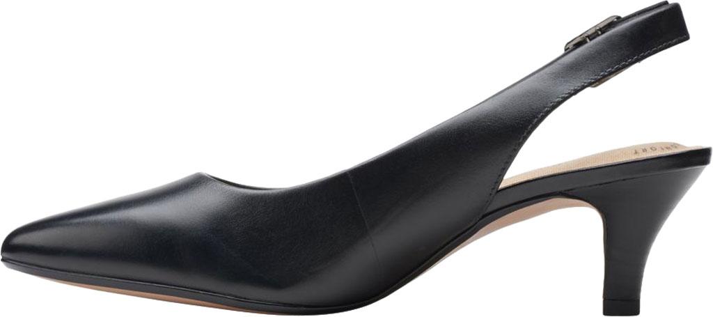 Women's Clarks Linvale Sondra Pointed Toe Slingback, Black Full Grain Leather, large, image 3