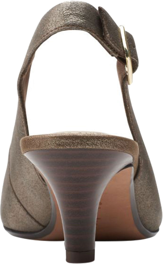Women's Clarks Linvale Sondra Pointed Toe Slingback, Metallic Full Grain Leather, large, image 4