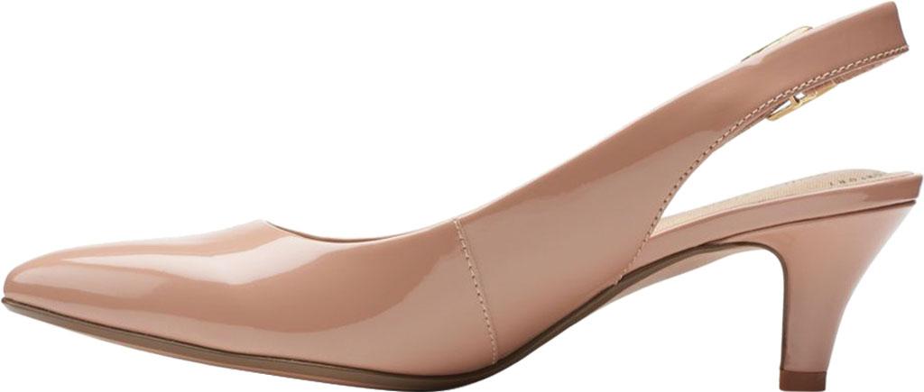Women's Clarks Linvale Sondra Pointed Toe Slingback, Praline Patent Synthetic, large, image 3