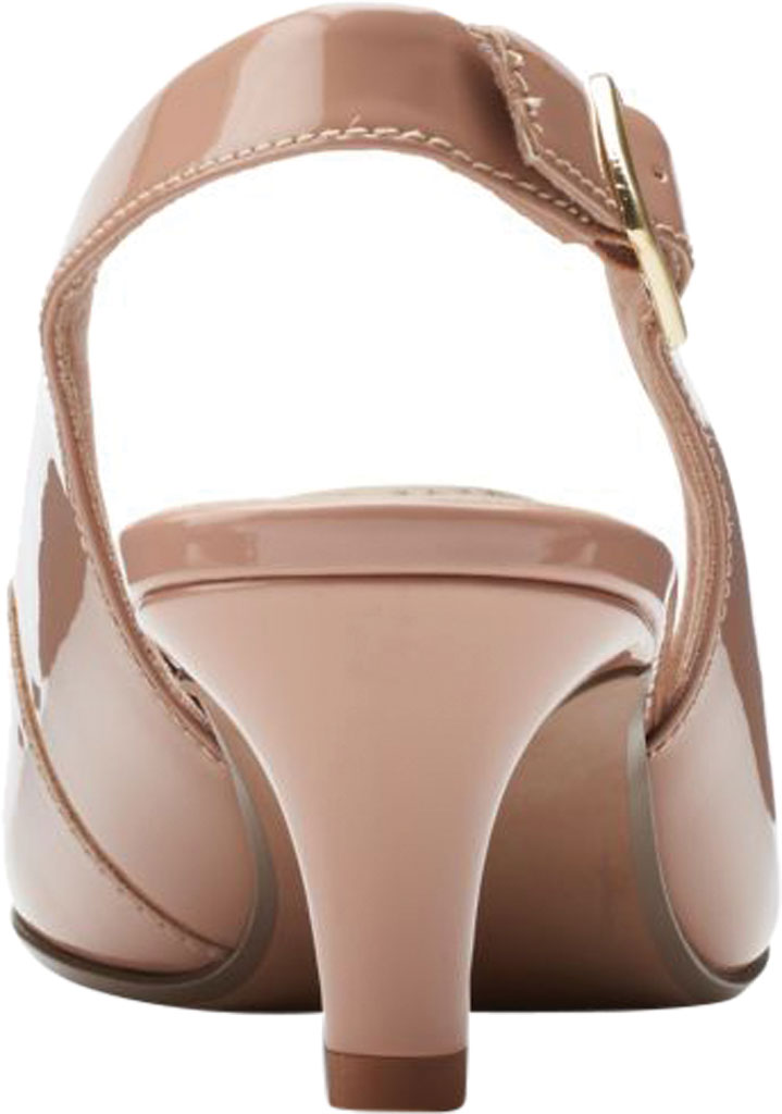 Women's Clarks Linvale Sondra Pointed Toe Slingback, Praline Patent Synthetic, large, image 4
