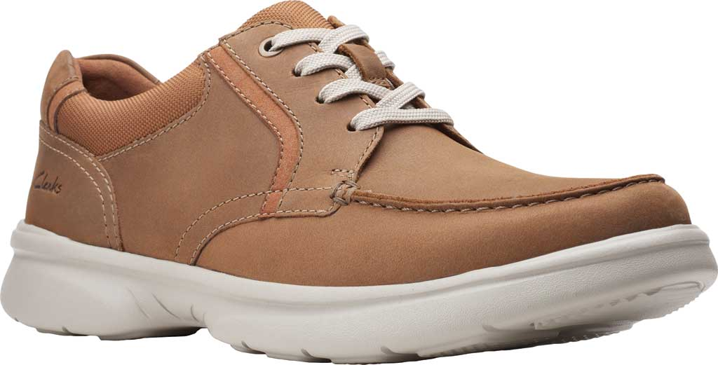 Men's Clarks Bradley Vibe Moc Toe Oxford, Tan Leather, large, image 1