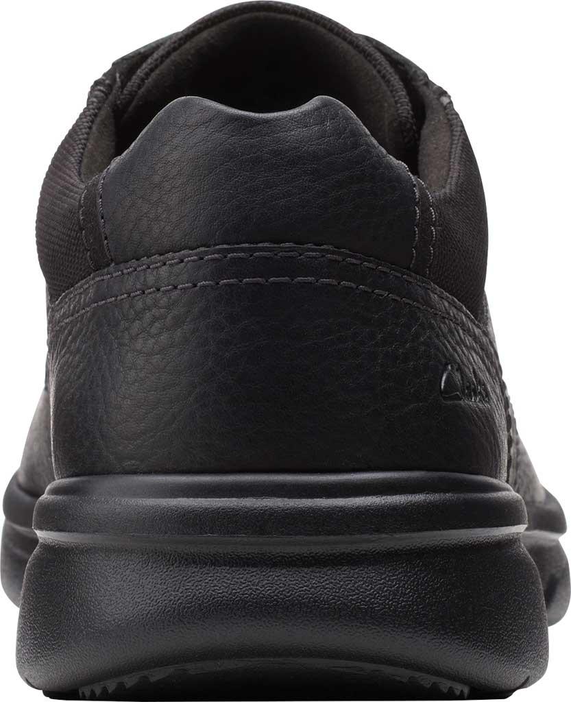 Men's Clarks Bradley Vibe Moc Toe Oxford, Black Tumbled Leather, large, image 4