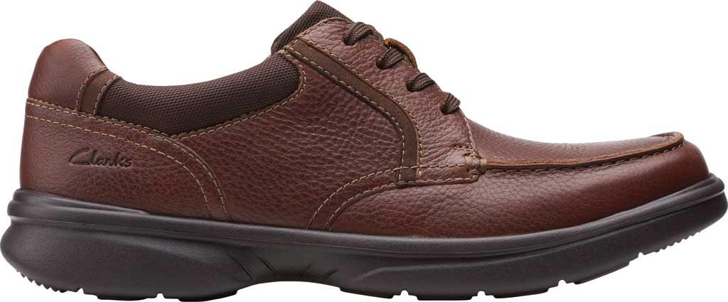 Men's Clarks Bradley Vibe Moc Toe Oxford, Tan Tumbled Leather, large, image 2