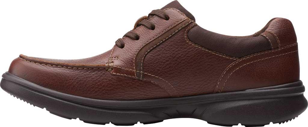 Men's Clarks Bradley Vibe Moc Toe Oxford, Tan Tumbled Leather, large, image 3