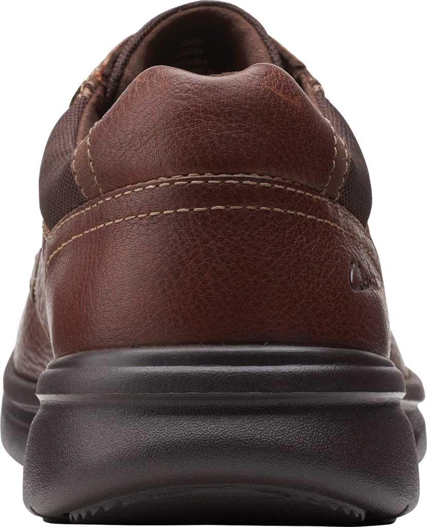 Men's Clarks Bradley Vibe Moc Toe Oxford, Tan Tumbled Leather, large, image 4