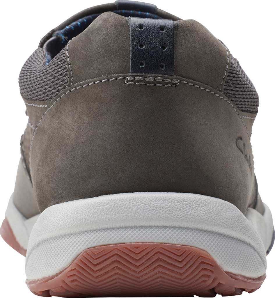Men's Clarks Langton Step Slip On Sneaker, Grey Nubuck/Textile, large, image 4