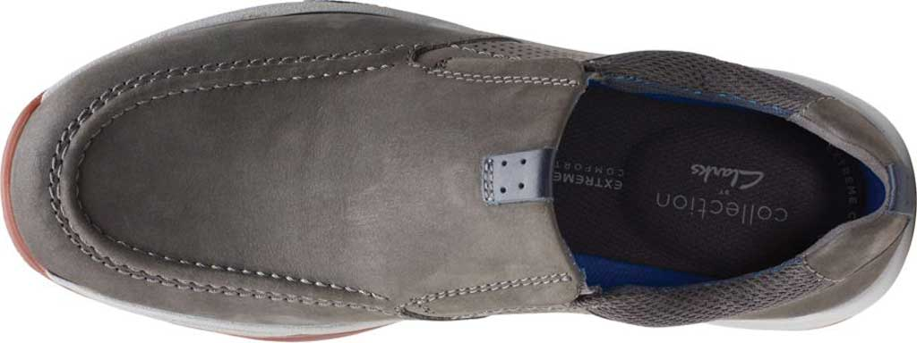 Men's Clarks Langton Step Slip On Sneaker, Grey Nubuck/Textile, large, image 5