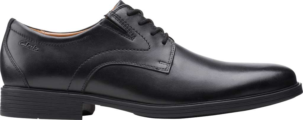 Men's Clarks Whiddon Vibe Plain toe Oxford, Black Full Grain Leather, large, image 2