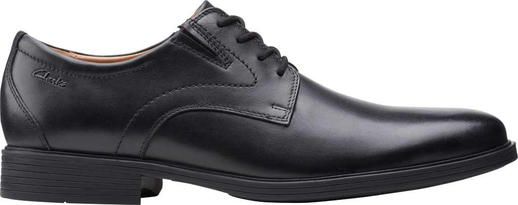 Men's Clarks Whiddon Vibe Plain toe Oxford, Black Full Grain Leather, large, image 2