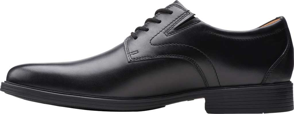 Men's Clarks Whiddon Vibe Plain toe Oxford, Black Full Grain Leather, large, image 3
