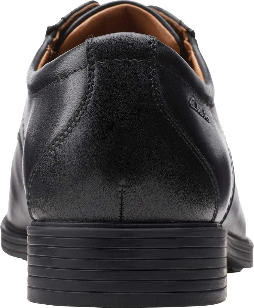 Men's Clarks Whiddon Vibe Plain toe Oxford, Black Full Grain Leather, large, image 4
