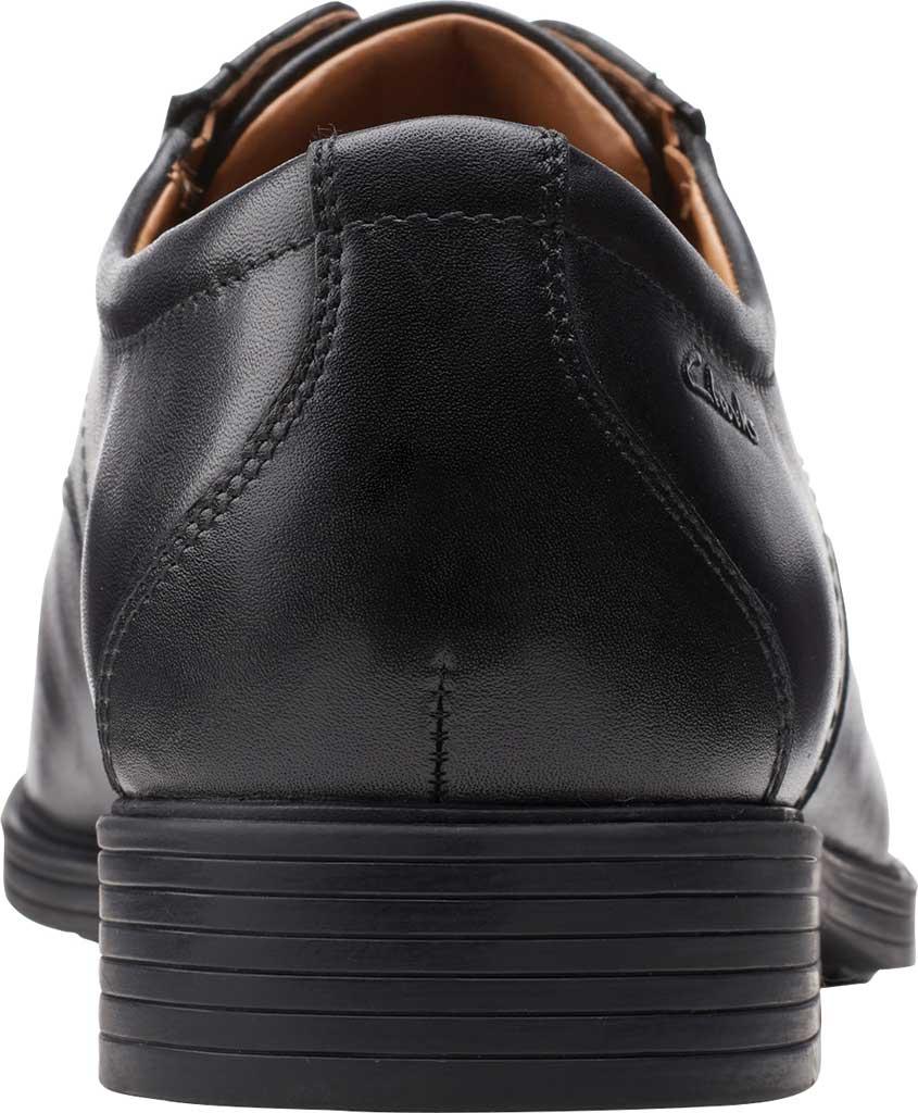 Men's Clarks Whiddon Vibe Plain toe Oxford, Black Full Grain Leather, large, image 4