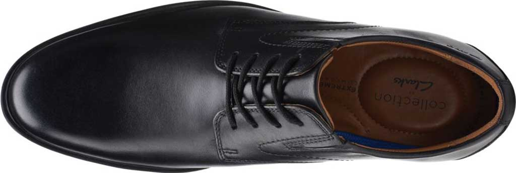 Men's Clarks Whiddon Vibe Plain toe Oxford, Black Full Grain Leather, large, image 5