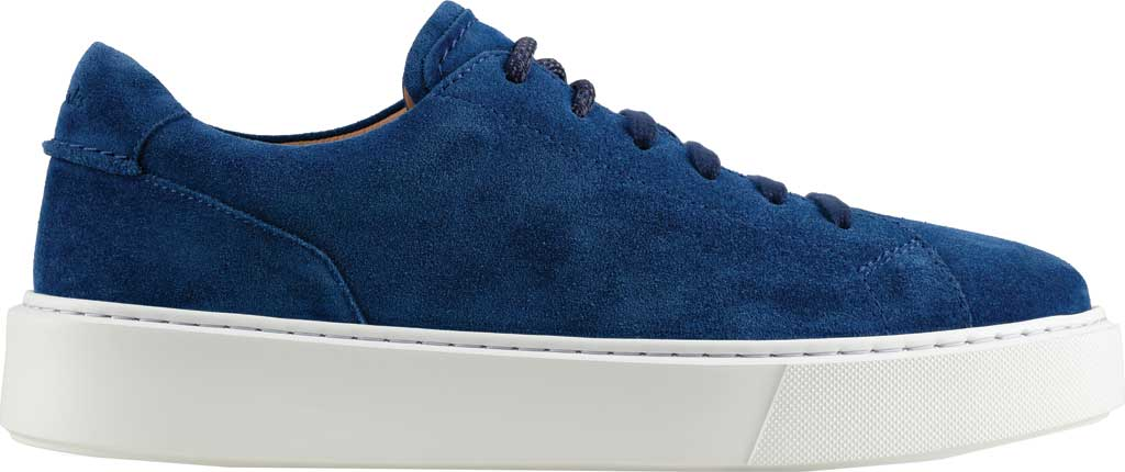 Men's Clarks Hero Lite Lace Sneaker, Blue Suede, large, image 2