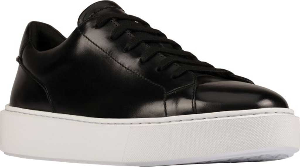 Men's Clarks Hero Lite Lace Sneaker, Black Hi-Shine Leather, large, image 1