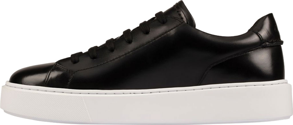 Men's Clarks Hero Lite Lace Sneaker, Black Hi-Shine Leather, large, image 3