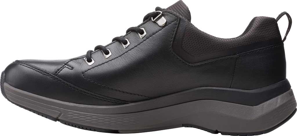 Men's Clarks Wave 2.0 Vibe Sneaker, Black Tumbled Leather, large, image 3