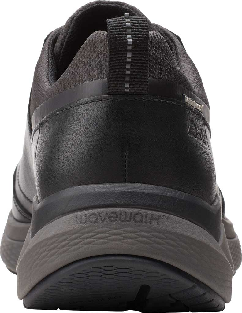 Men's Clarks Wave 2.0 Vibe Sneaker, Black Tumbled Leather, large, image 4
