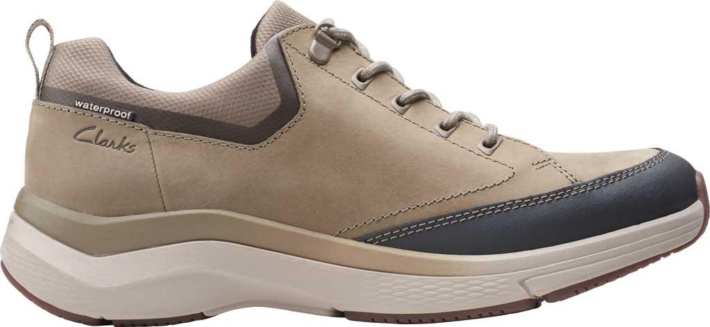 Men's Clarks Wave 2.0 Vibe Sneaker, Sage Nubuck, large, image 2