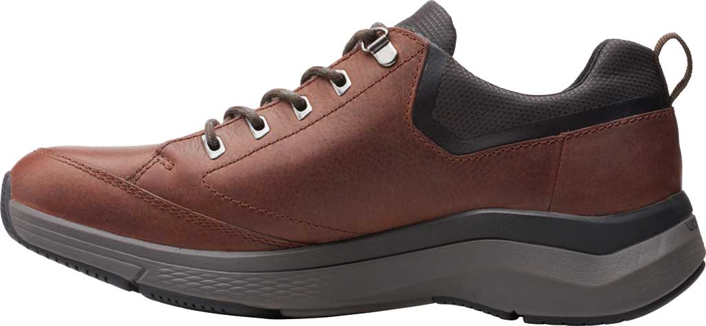 Men's Clarks Wave 2.0 Vibe Sneaker, Brown Oily Tumbled Leather, large, image 3